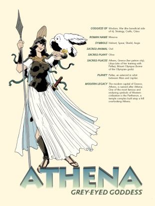 Athena-Pin-up